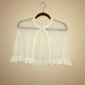 Children's Place Girl's Communion Cape poncho